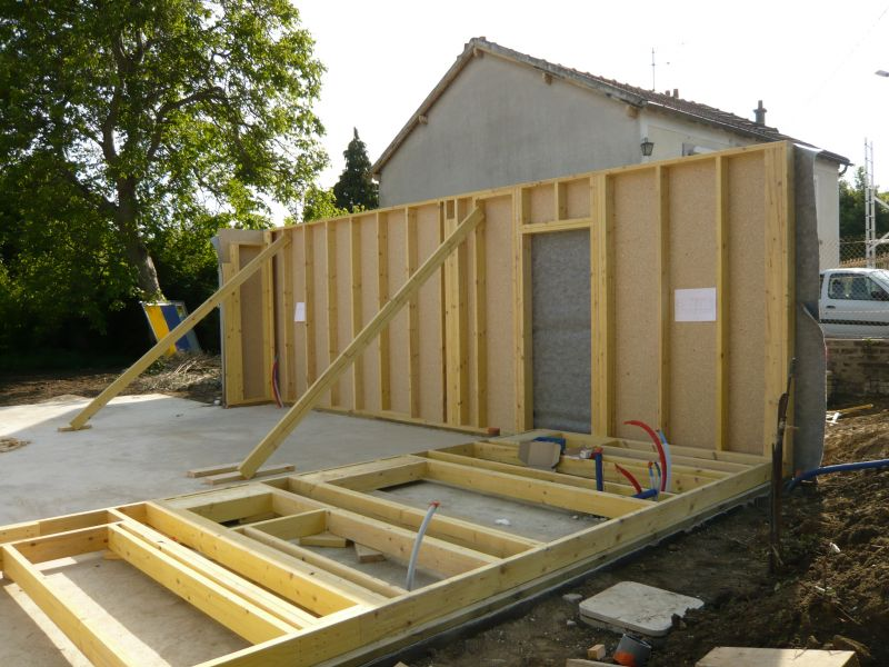 5 la construction notre futur maison for Construction en bois ou beton