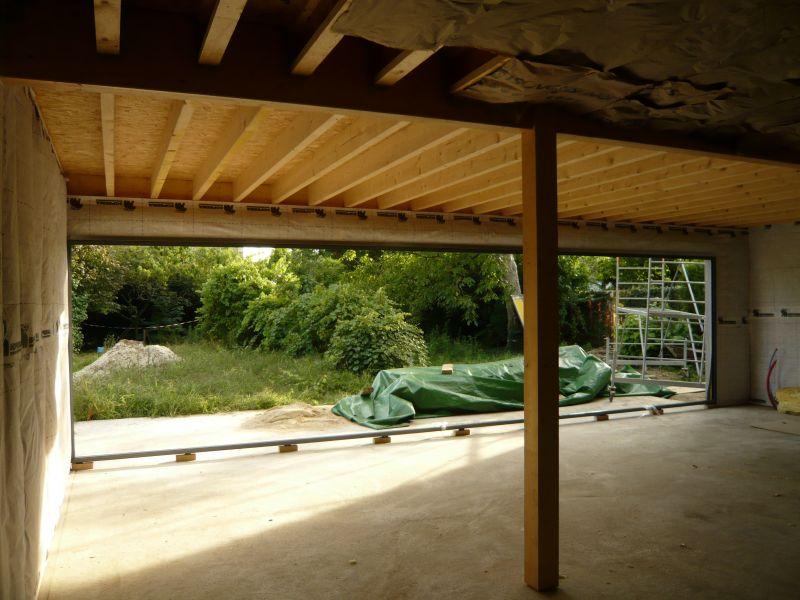 L ossature bois notre futur maison - Baie vitree pour toiture ...